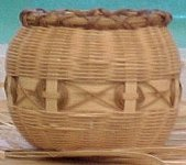 Cherokee Single Wall Button Basket